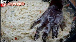 RESEP RAHASIA - PROSES PEMBUATAN ADONAN GORENGAN BAKWAN ABANG - ABANG #ASMR - JAKARTA STREET FOOD