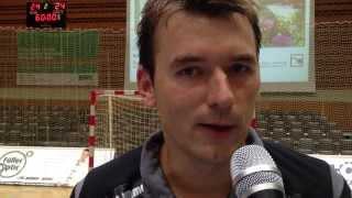 DJK Rimpar Wölfe vs. SC DHfK Leipzig 24:24 (11:11) - Trainer Christian Prokop nach dem Spiel