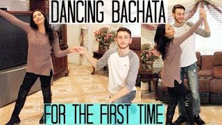 TEACHING HIM HOW TO DANCE BACHATA (his first time ever!)