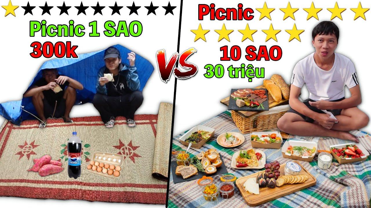 Picnic 1 Sao vs 10 Sao | Dã Ngoại Picnic 300k VS 30 Triệu
