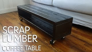Make Yourself A Coffee Table From Scrap Lumber