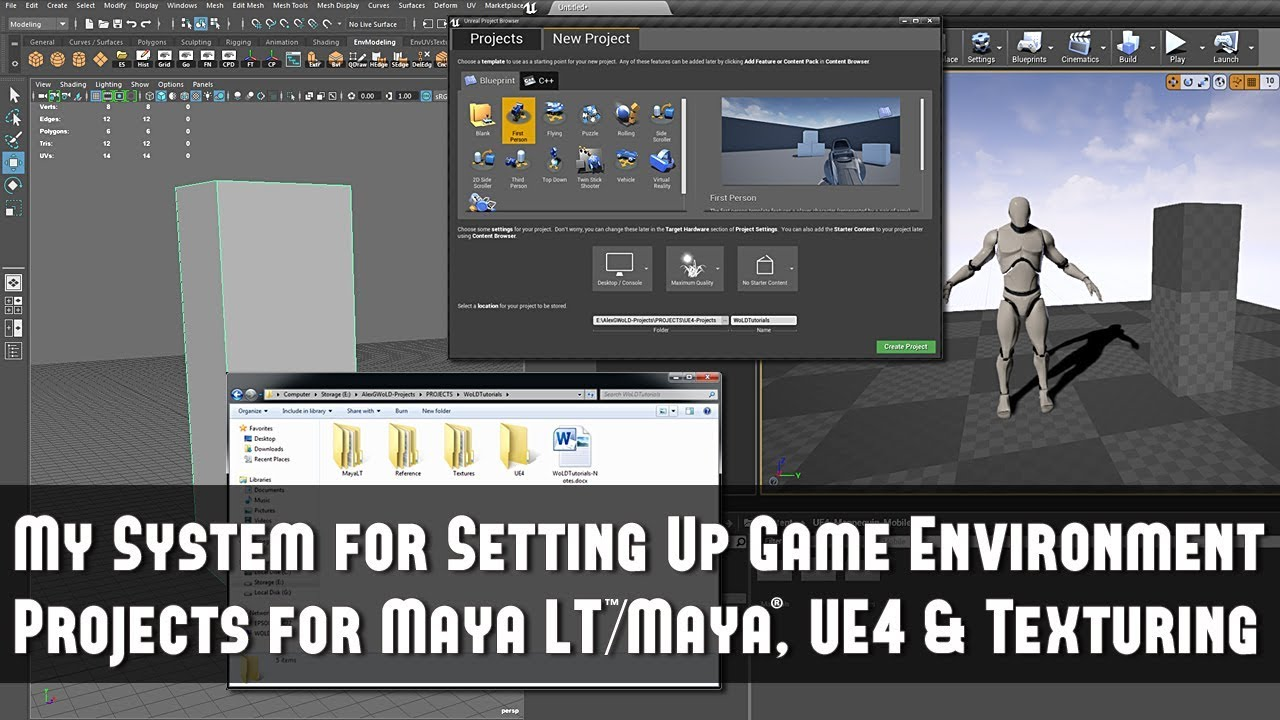 My System for Setting Up Game Environment Projects for Maya