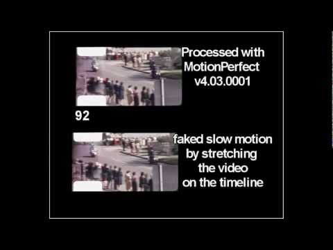 JFK Zapruder film professional slow motion (MotionPerfect), stabilized