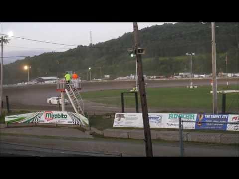 1. Butch Green 2. Doug Polhamus 3. Dave Cronk 4. Travis Brockner 5. Steve Polhamus. - dirt track racing video image
