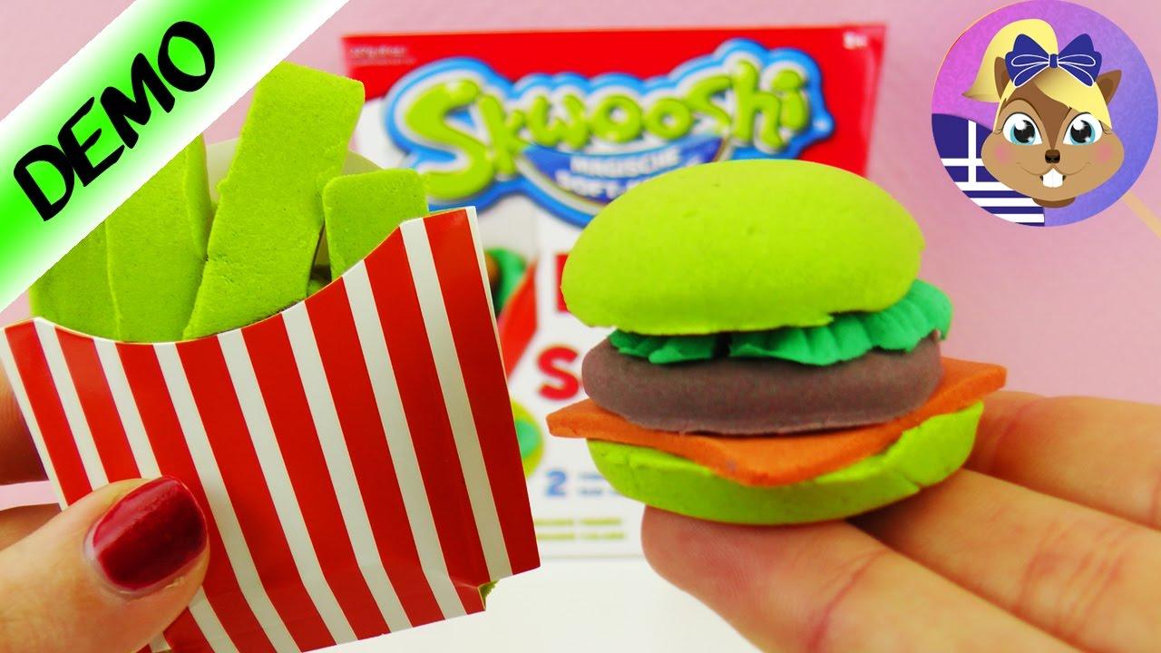 Φτιάξε με την μαγική πλαστελίνη Burger και τηγανητές