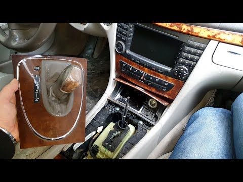 How To Remove Replace Transmission Shifter on Mercedes W211, W219, CLS
