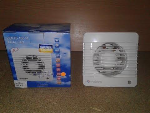 Вытяжной вентилятор Вентс 100 МЛ (Vents 100 ML). Обзор из коробки и тест.