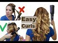 How to curl your hair with a straightener - EASY & FAST