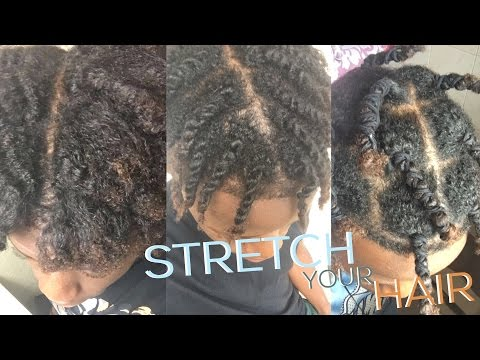 HOW TO : STRETCH HAIR & STOP SHRINKAGE | NATURAL HAIR TUTORIAL