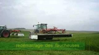 2 Fendt 930 + faucheuse Roc 7 m