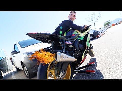 Lucas neues Rennstrecken Motorrad!