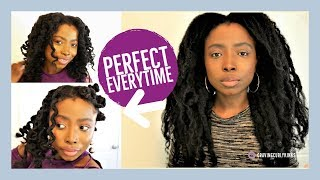 Moisturizing Natural Hair | How To Get Perfect Bantu Knot From Old  Dry Twist Out  | Type 4 Hair
