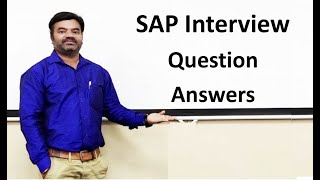 SAP Interview Question Answers