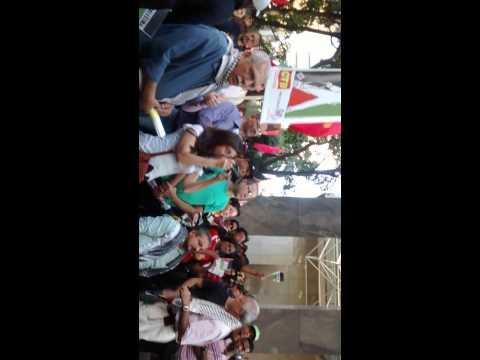 Federação Palestina No Ato Em Frente Ao Consulado De Israel- São Paulo - PARTE 1