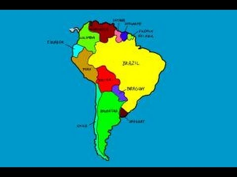 How to draw South America - YouTube