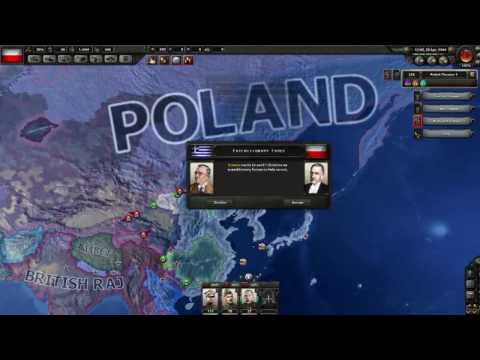 Hearts of Iron 4 Timelapse Non-Aligned Poland vs Germany, Soviet Union and Japan #2