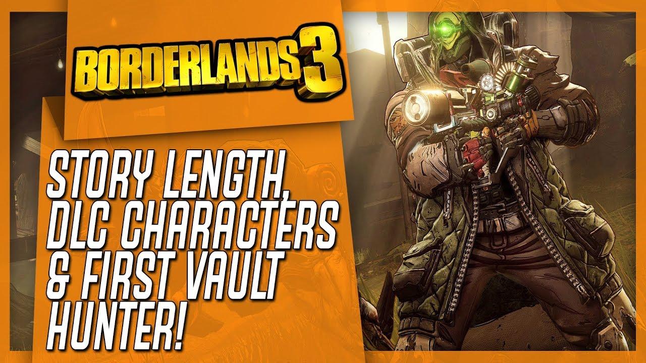 BORDERLANDS 3 Info Dump: Story Length, DLC Characters