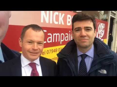Andy Burnham visits Warrington