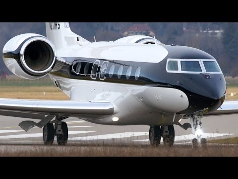Best Looking Gulfstream G650 Landing & Take Off at Bern Airp