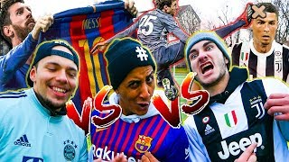 CRISTIANO RONALDO VS MESSI VS THOMAS MÜLLER FUSSBALL CHALLENGE
