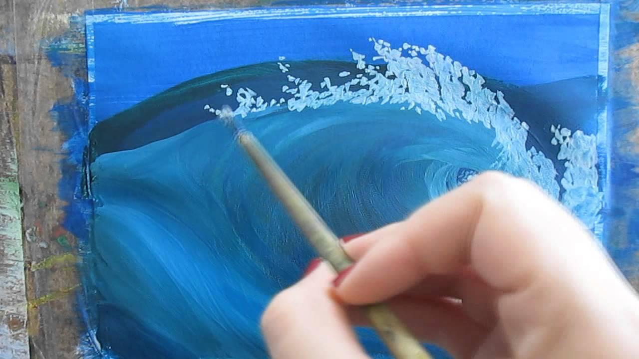 видеоурок рисуем волну