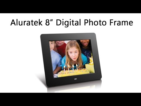 Aluratek 8 Digital Frame Unboxing Youtube