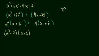 1.5 Factoring a Cubic Polynomial - [ax^3 + bx^2 +cx +d] (Special Case with Grouping)