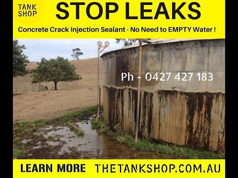 Concrete water tank leak repair - high volume water leak !