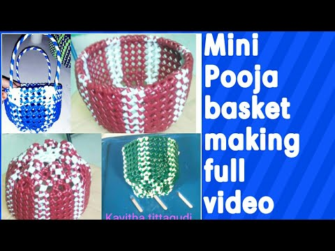 Mini round Pooja basket making full clear easy tutorial for beginners