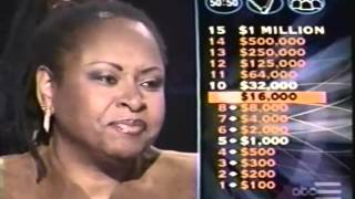 Robin Quivers plays WHO WANTS TO BE A MILLIONAIRE nov 5 2001 FULL