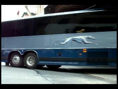 Greyhound Prevost Entering the Port Athority Bus terminal