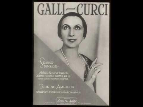 Amelita Galli-Curci - Lo! Here The Gentle Lark (Electrical Recording)