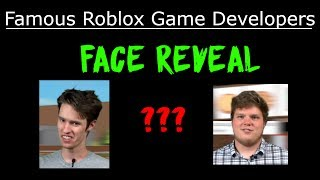 Famous Roblox Game Developers - Face Reveal