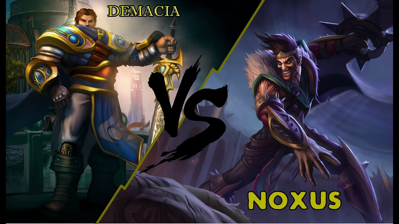 League of Legends: Primer duelo Noxus vs Demacia - YouTube