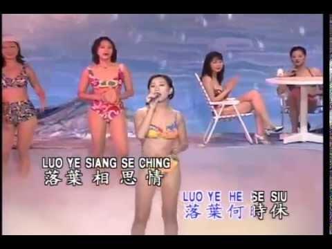 酒廊情歌【美女舞台秀】落葉相思情 林翠萍唱 高清LD版 台語:請你聽我講