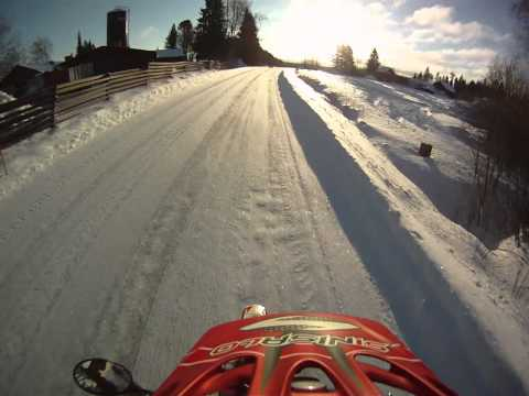 Beta RR 50 Track Motard Icy Road with slick tyres
