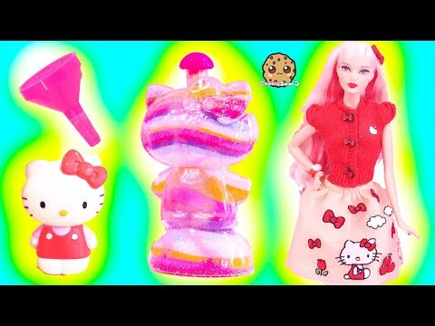 Rainbow Sand Art Craft Kit with Hello Kitty Barbie Doll - Toy Video Cookie Swirl C