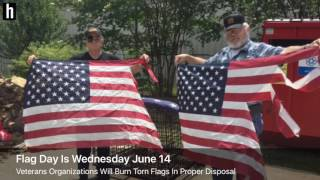 Video Torn American Flags to be disposed Wednesday on Flag Day download MP3, 3GP, MP4, WEBM, AVI, FLV Juli 2018