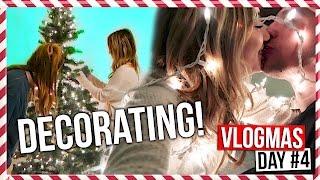 DECORATING FOR CHRISTMAS!! | Vlogmas Day #4