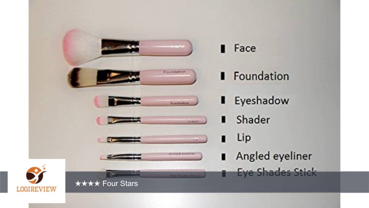 b86843ecd Decorating 7 Pcs Professional Pink Hello Kitty Soft Makeup Brush Set with  Box | Review/Test - YouTube