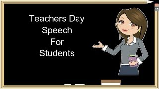 student speech on teacher day Good morning family, friends, faculty, and fellow graduates 2013 student graduation speech from this day forward, let us make each decision with our best.