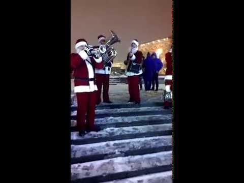03 Valeriy Bukreev Santa Claus Jazz Band 2014 Moscow Mayor Sergei Sobyanin Opens a Christmas Fair at