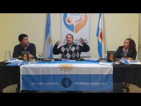 """Del Frade presentó """"Los Caminos de Belgrano"""" en Vera"""