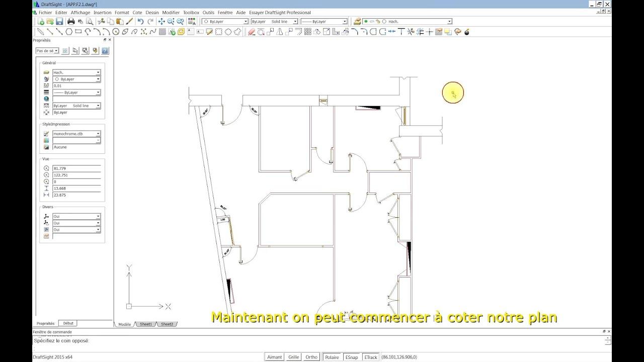 Dessiner Un Plan Du0027appartement Avec DraftSight 2015. Partie 3