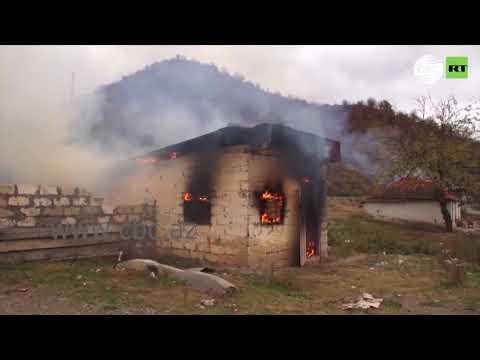 Армяне, покидая село Чарактар, по привычке сожгли дома, думая, что его передадут Азербайджану