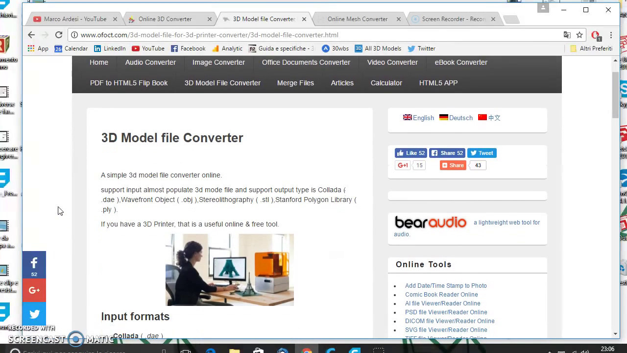 48 - CONVERTIRE FILE 3D OBJ, STL, 3DS, Collada, FBX, DXF, LWO, MDL, MD2, MD3