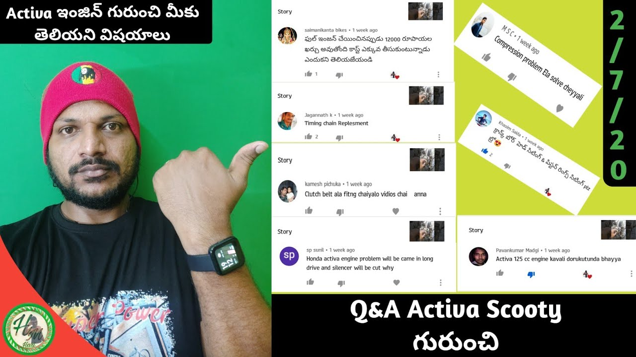 All Doubts About Active Scooty Engine In Telugu||Hari Mec