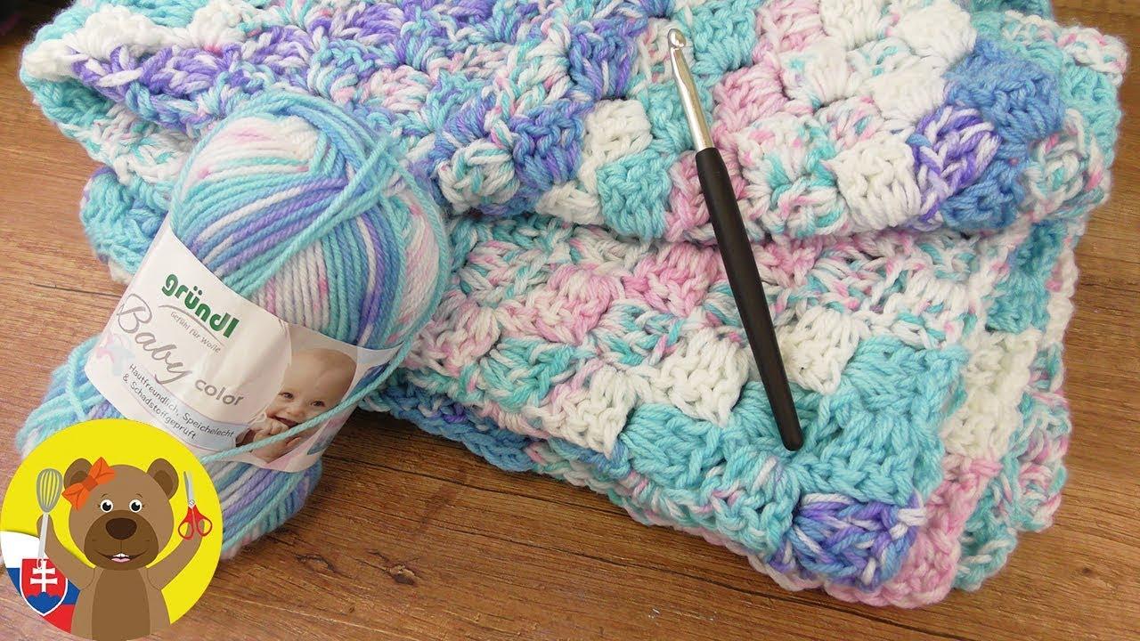2cb8bdd53 Háčkovaná deka návod | Ako uháčkovať deku | Háčkovaná deka pre bábätko |  Háčkovaná detská deka