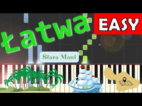 🎹 Stara Maui (szanty) - Piano Tutorial (łatwa wersja) 🎹