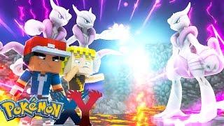 Minecraft: Pokemon X Y - O FIM! MEGA MEWTWO vs MEGA MEWTWO #100